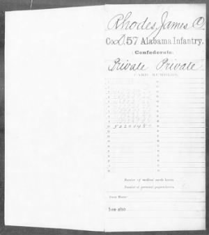 Confederate Service Record (1 of 12)