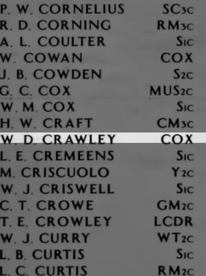 CRAWLEY, Wallace Dewight