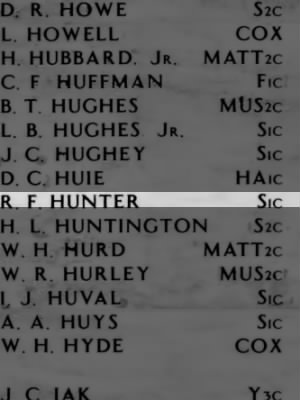 HUNTER, Robert Fredrick
