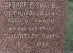 George Frederick Smith, great grandson, Daniel Smith