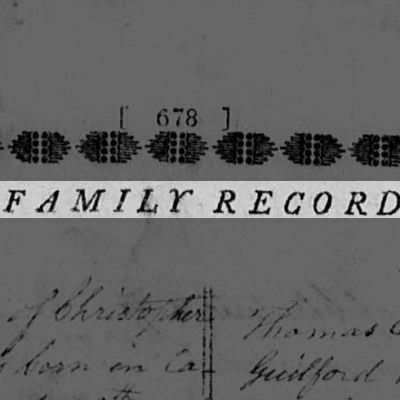 Guilford Dudley Family Bible Record