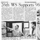 Newspaper article (top) on Dyess AFB Weather Station, August 11, 1967