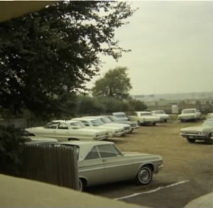 "The parking lot behind the ""grassy knoll"", possible locatio of second assassin. Nov"