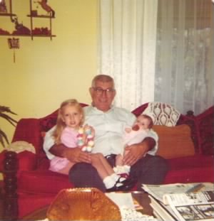 Paschal McQuearry with Grandchildren