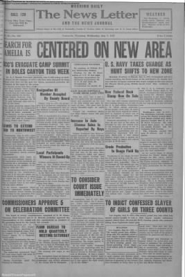 1937-Jul-7 News Letter Journal, Page 1
