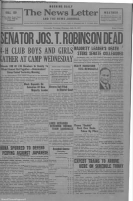 1937-Jul-15 News Letter Journal, Page 1