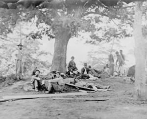 Wounded Soldiers after Battle