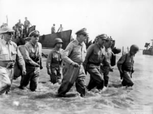 MacArthur Lands at Leyte, Philippines