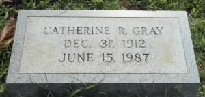 Catherine Gray's tombstone picture