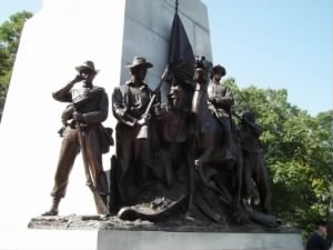 Closeup of Virginia Memorial