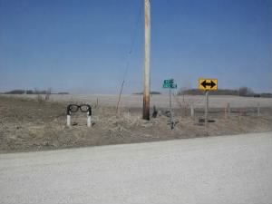 Marker to the Buddy Holly crash site