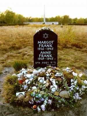 Symbolic Grave for Annne Frank and Margot Frank