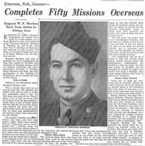 "T/Sgt Wm ""BILL"" Sheehan, Radio/Gunner, 321stBG,446thBS"