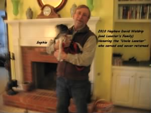 "Nephew, David Waldrip and his Little Dog ""Sophie"" 2010"