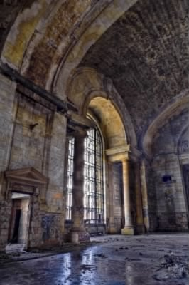 Arcade of Michigan Central Station