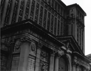 Black & White Photo of the Michigan Central Station