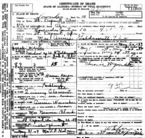 Clements Goldsmith, Annie 1939 death record.jpg
