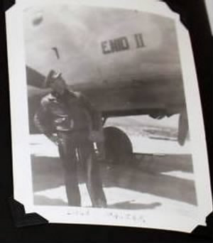Lt George E Nicklaus, Looking at his SHIP, B-25 ENID II #42-64509 C-20