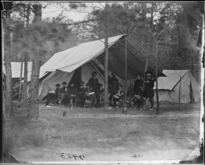 Mathew B Brady Collection of Civil War Photographs › B-46 General Ulysses S. Grant and Staff of Eleven, Recognized, Captain Frederick R. Munther. - Fold3.com