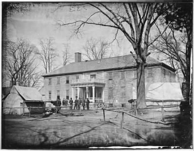Mathew B Brady Collection of Civil War Photographs › B-233 Headquarters at Wilford House, Brandy Station, Va - Fold3.com