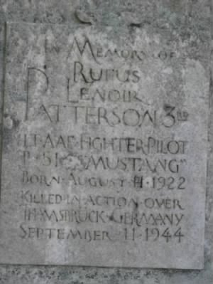Rufus L. Patterson III Memorial (detail)