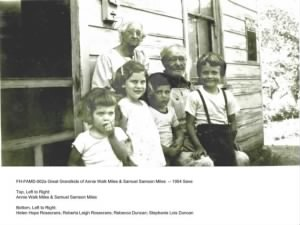 Few of the Great Grandchildren of Annie Walk Miles -- 1954