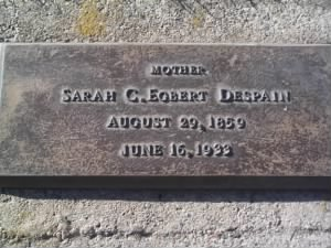 Sarah Catherine Egbert Despain Headstone