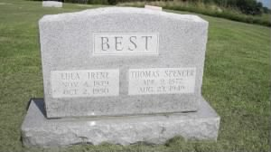 Thomas Spencer Best and Lulu Irene Wasson Best - Headstone