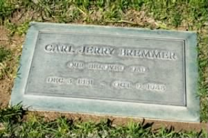 Carl Jerry Bremmer - headstone