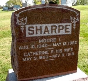 Sharpe (Moore I and Catherine R) -Headstone