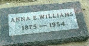 Ann Elizabeth William (Sharpe) - Headstone