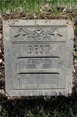 John Harvey Best - Headstone