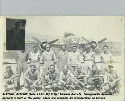Bernard Barrett with his Class, Preparing for Combat in the Mediterranean. - Fold3.com