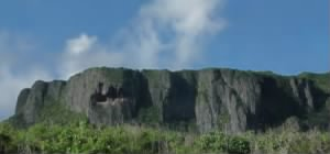 Let's go to this cliff on the nearby island of Saipan to learn why: