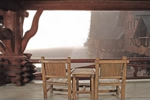 Viewing Deck in Old Faithful Inn
