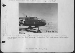 Lt Joe Brady in the ALLY OOP B-25 #42-32403 Africa MTO / WWII 321st BG