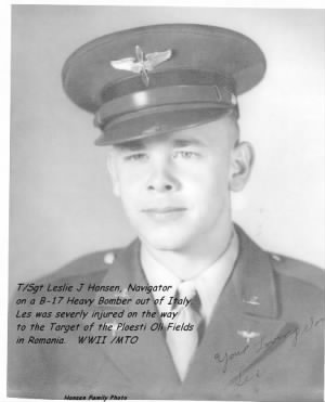 T/Sgt Les Hansen, US AAC, B-17 Heavy Bomber /WWII /MTO