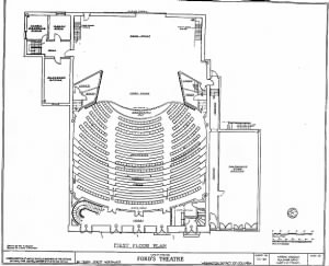Plan of Ford's Theatre