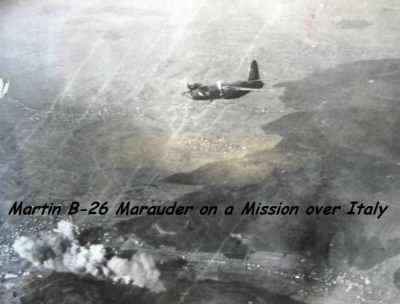B-26 Marauders on a Combat Mission.  Clarence was an Aerial Gunner. - Fold3.com