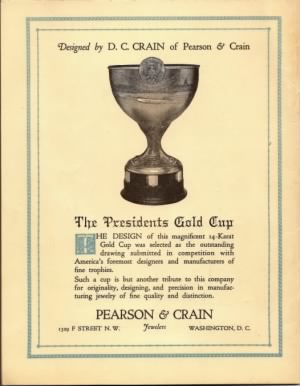 1926 President's Cup Regatta Program, back cover