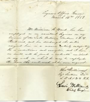 William G. Ward, Letter of Comondation #2
