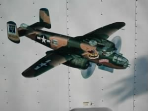 B-25 painting, #41-13171 TRIGGER made by Al's son Chuck Duke 2011