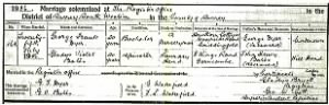 Marriage Certificate George Frank Dyer & Gladys Violet Bates