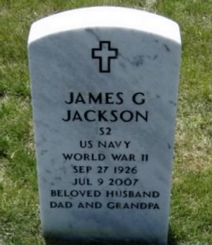 Headstone for S2 James 'Jim' Glendell Jackson - Jeff. Barracks Nat. Cem. St Louis, MO