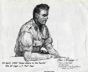 "South Pacific SKETCH of ""Pat"" Paul."