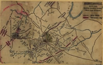Chancellorsville, May 2, 1863, showing Stonewall Jackson's great flank movement. › Page 1 - Fold3.com