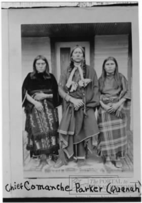 Quanah Parker with two Wives.jpg