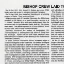 PAGE ONE;  Bishop B-24 Loss