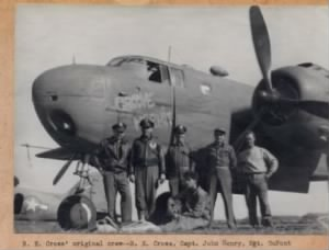 310thBG, 380thBS, GROOVE HERMIT B-25 Larry flew Combat as R/G. Ditchey Photo