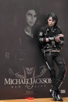 Michael, in Black, 1988, Leans against a Mural of himself